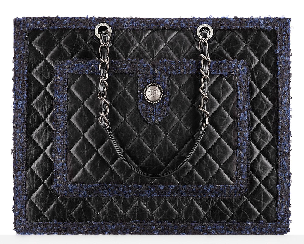 Chanel Large Calfskin and Tweed Shopping Bag 5000