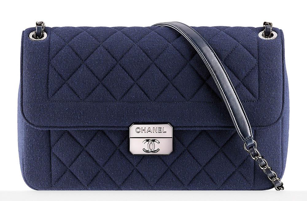 Chanel Large Jersey Flap Bag 3300