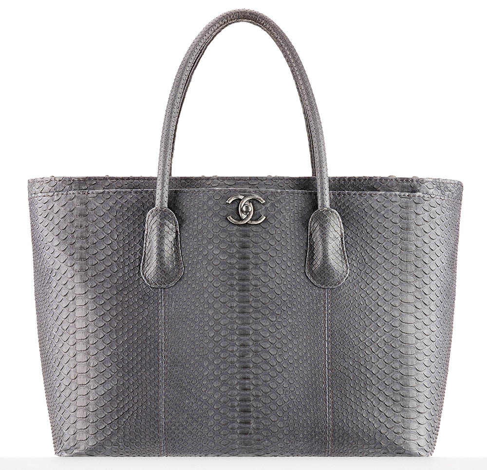 Chanel Large Python Shopping Bag