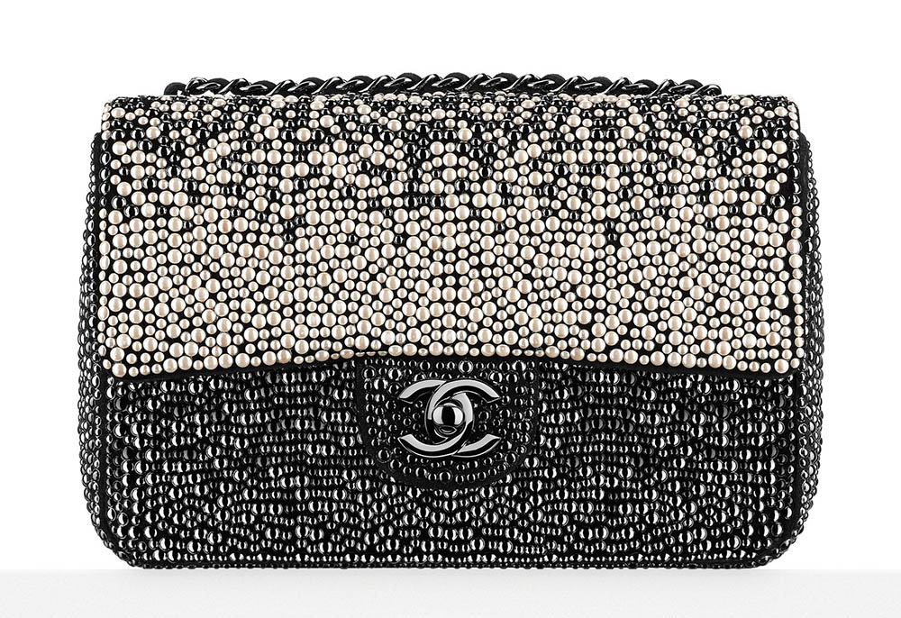 Chanel Pearl Embellished Classic Flap Bag