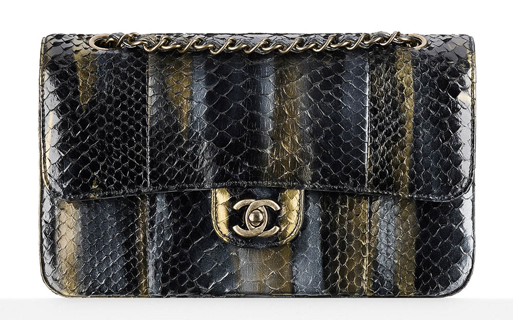 Chanel Python Classic Flap Bag