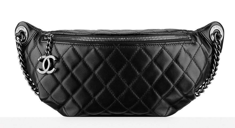 Chanel Waist Bag Black 2000