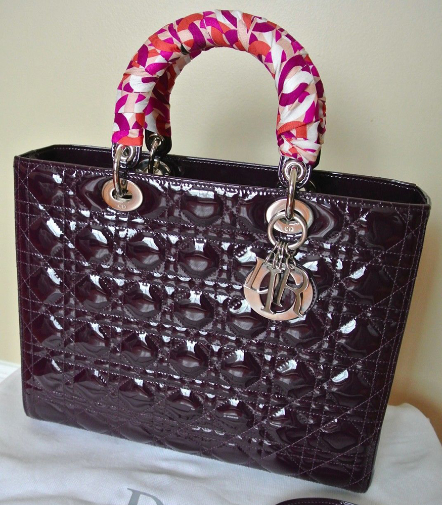 Christian Dior Lady Dior Patent Bag