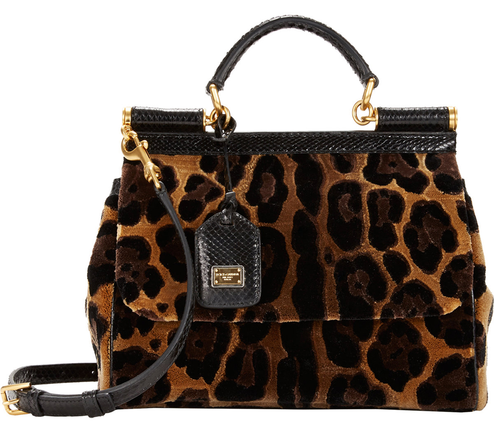 Dolce and Gabbana Cut Velvet Miss Sicily Bag
