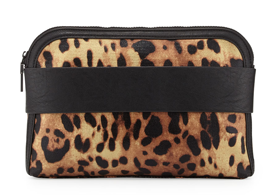 French Connection Dream Boat Leopard Clutch