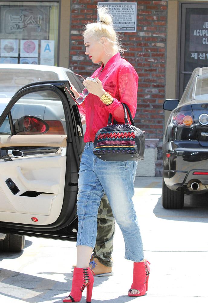 Gwen Stefani Christian Louboutin Panettone Spiked Satchel 3