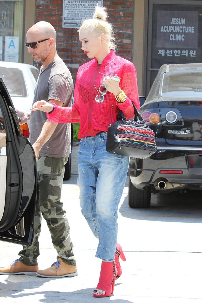 Gwen Stefani Christian Louboutin Panettone Spiked Satchel 4