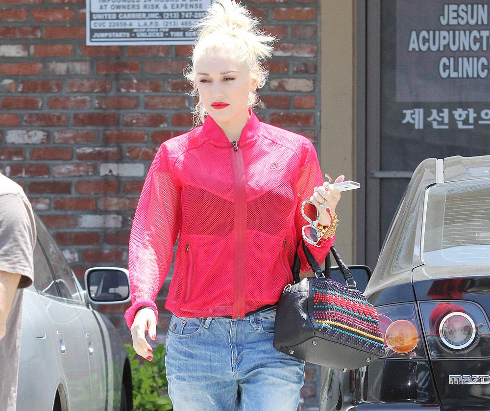 Gwen Stefani Christian Louboutin Panettone Spiked Satchel