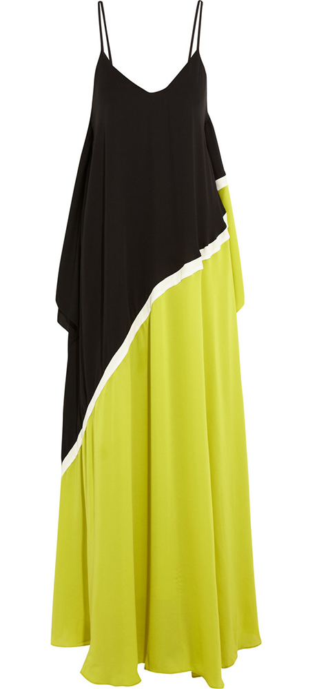 Halston Heritage Colorblock Georgette Gown