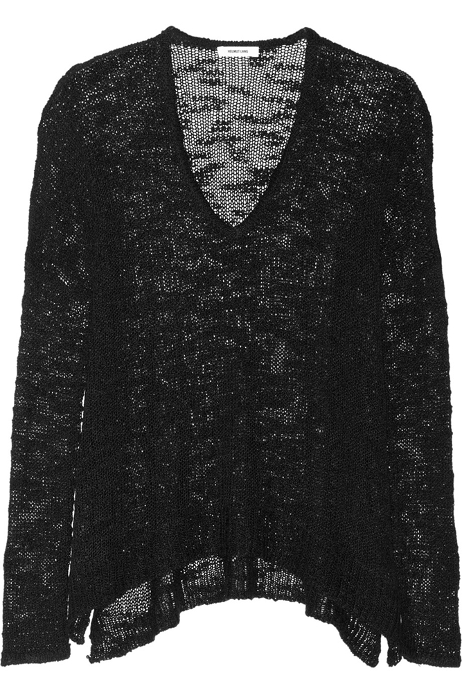 Helmut Lang Open-Knit Silk Sweater