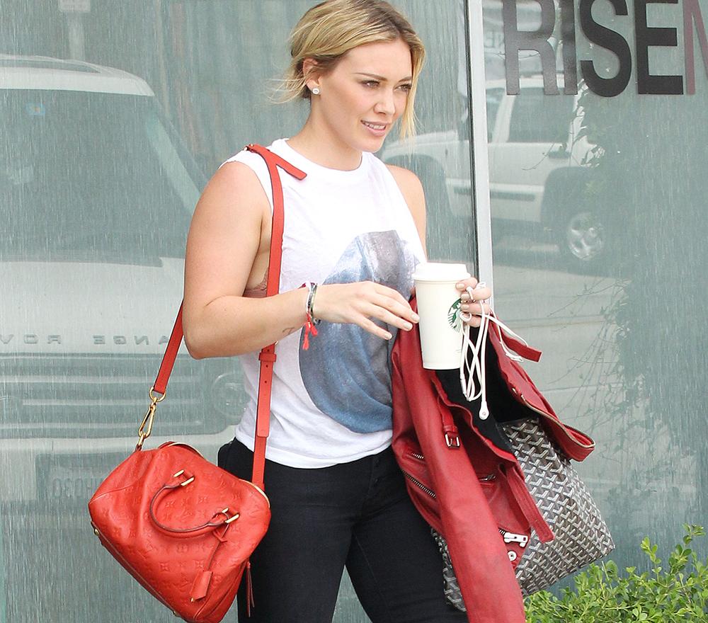 Hilary Duff Louis Vuitton Empreinte Speedy Goyard St. Louis Tote