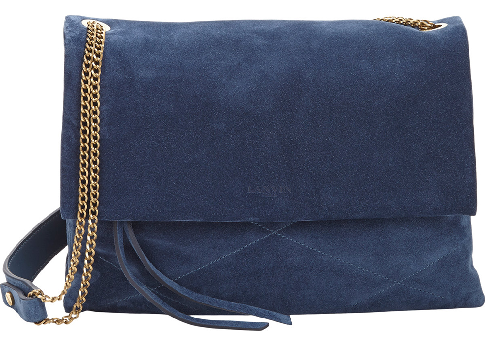 Lanvin Suede Sugar Shoulder Bag