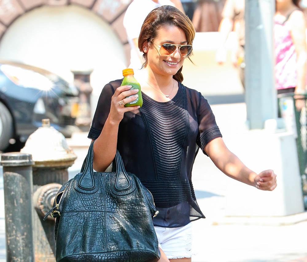 Lea Michele Givenchy Nightingale Bag