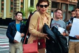 Maggie Gyllenhaal Celine Trio Bag Bulgari Serpenti Bag