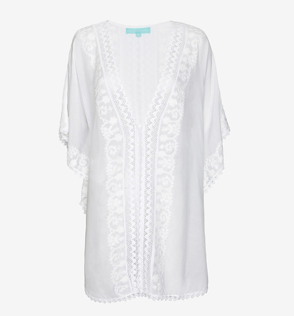 Melissa Odabash Embroidered Drapey Caftan