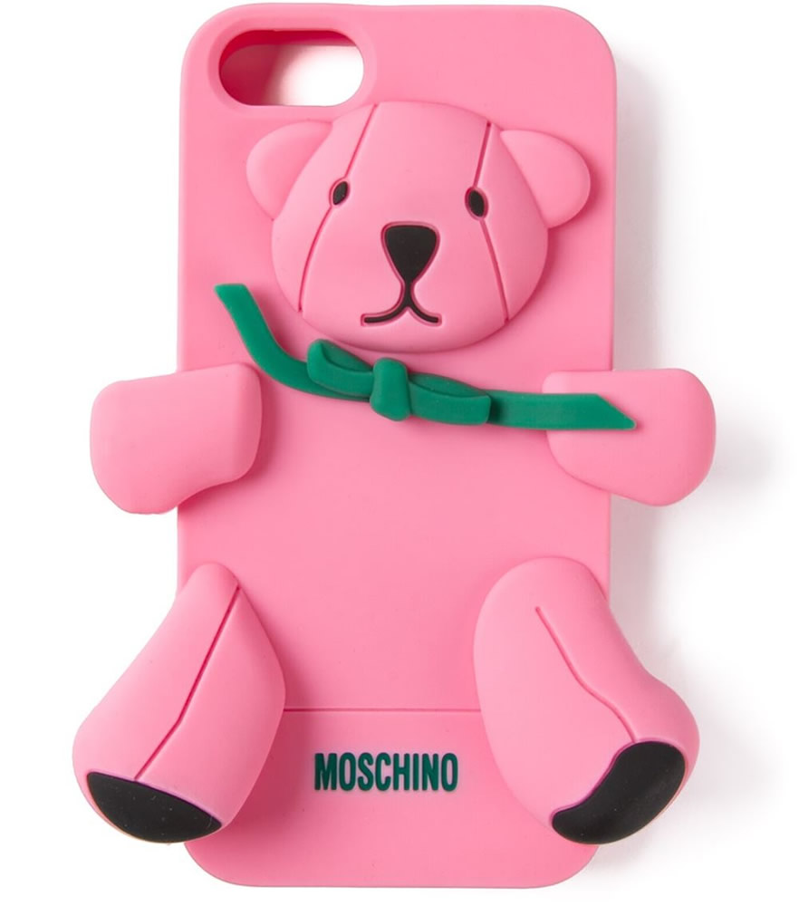 Moschino Pink Bear iPhone Case