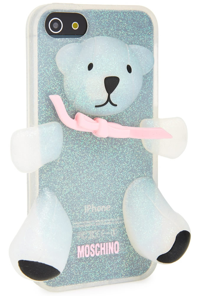 Moschino Teddy Bear Glitter 3D Rubber iPhone 5 Case