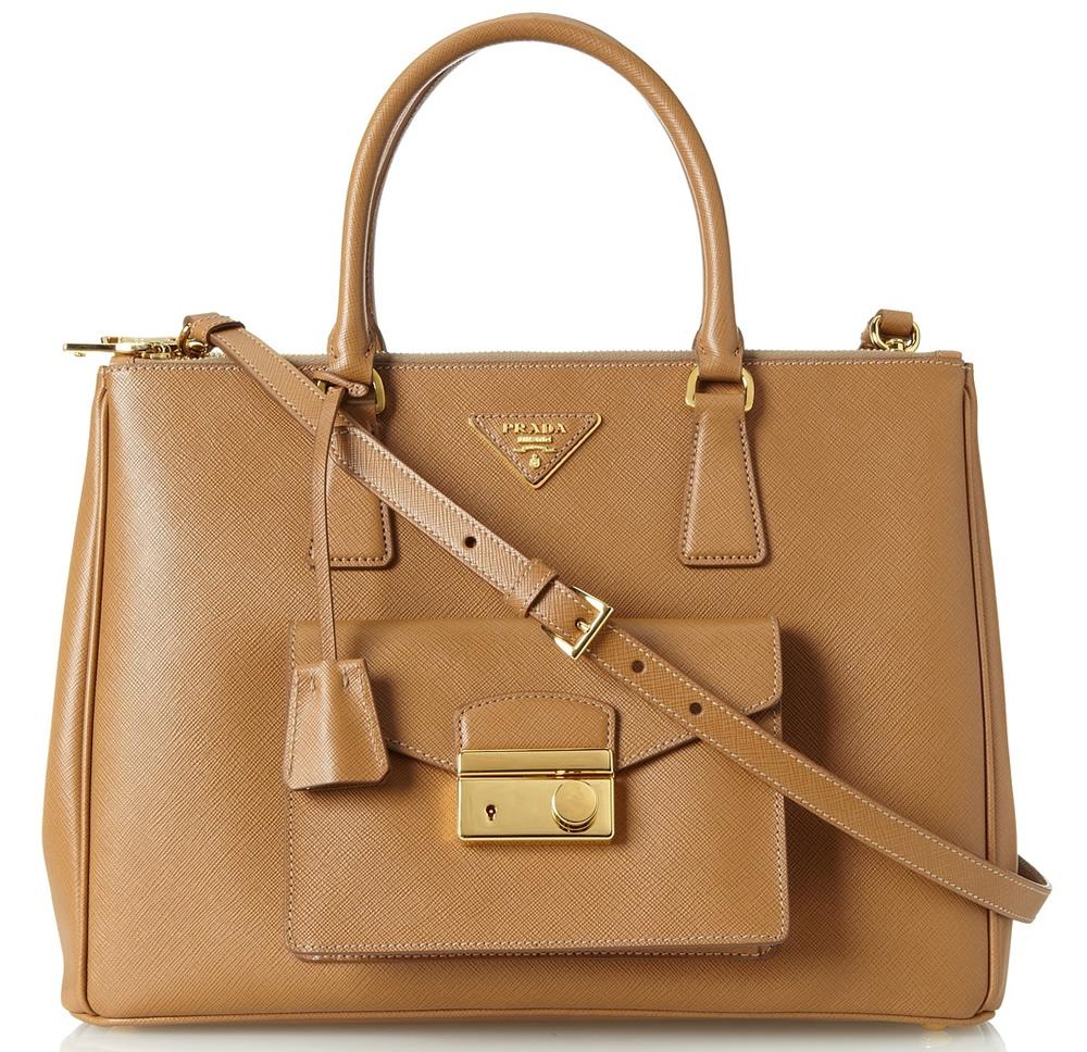 Prada Front Pouch Bag Caramel