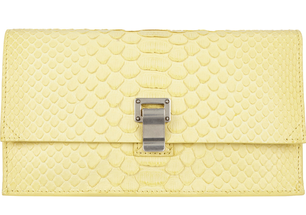 Proenza Schouler Extra Small Python Lunch Bag