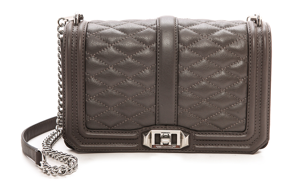 Rebecca Minkoff Love Shoulder Bag Grey