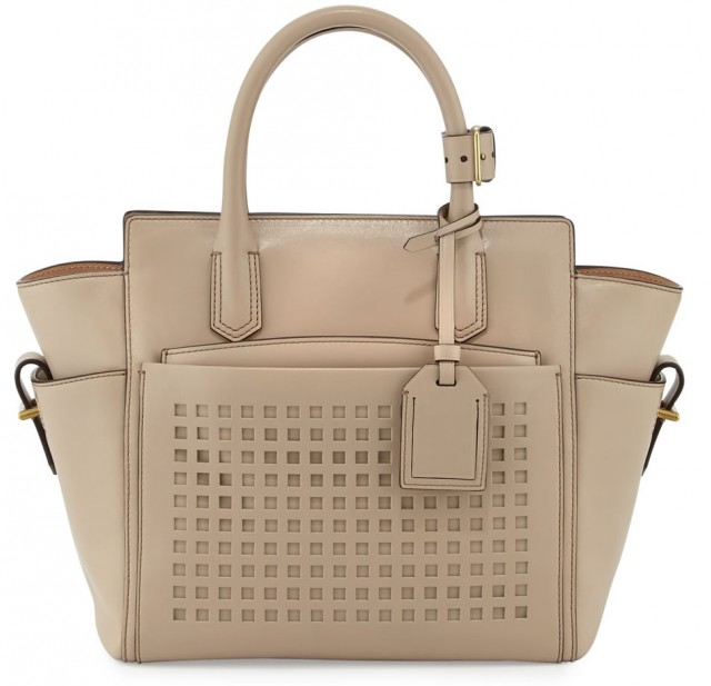 Reed Krakoff Atlantique Mini Perforated Tote Bag