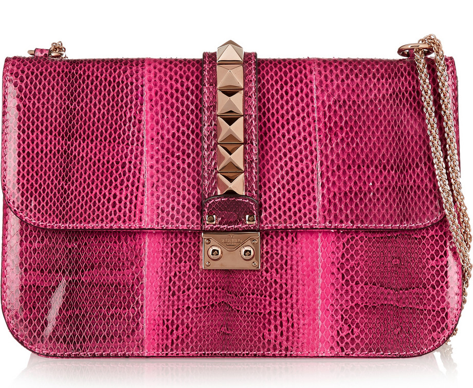 Valentino Lock Lizard Shoulder Bag