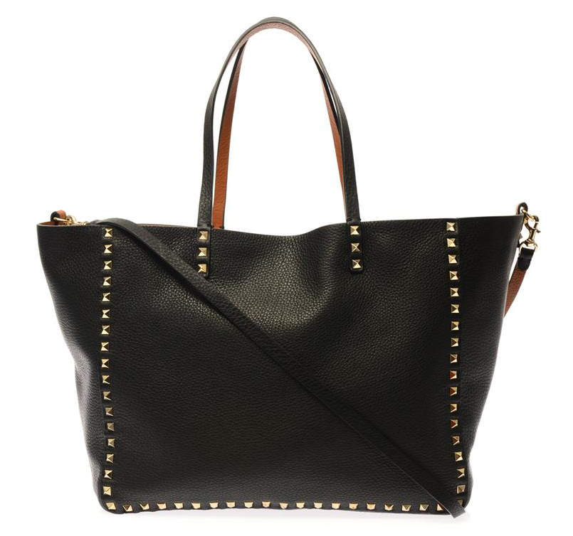 Valentino Rockstud Double Reversible Tote Black