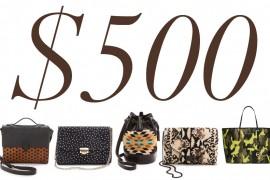 5 Under 500 Printed Bags