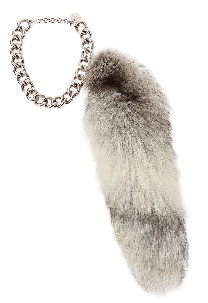 Alexander McQueen Fur Fox Tail Charm