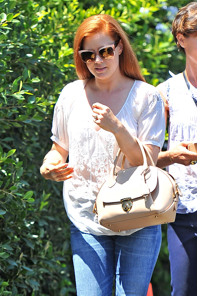 Amy Adams Salvatore Ferragamo Fiamma Bag 3
