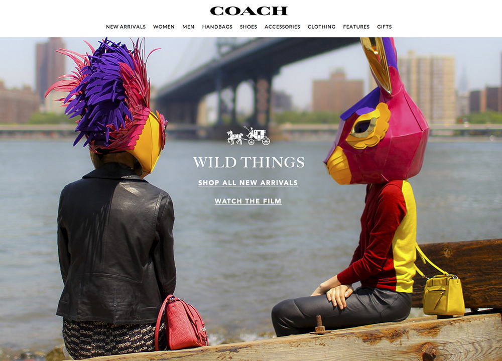 Coach Wild Things Animal Head Campaign