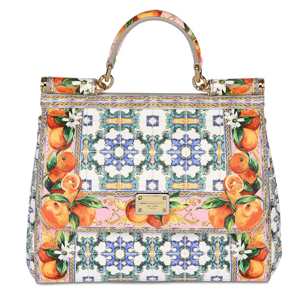 Dolce & Gabbana Sicily Dauphine Top Handle Bag