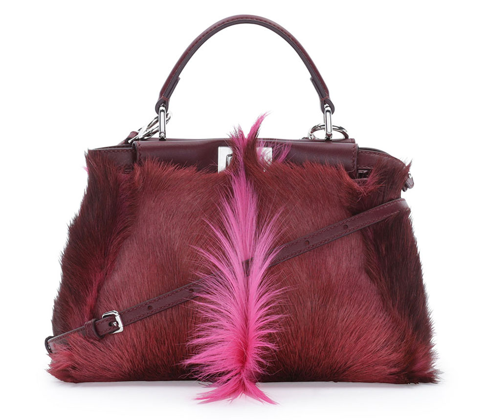 Fendi Mini Peekaboo Gazelle Fur Tote
