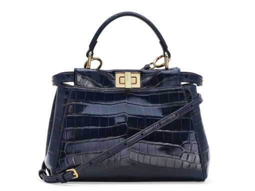 Fendi Peekaboo Crocodile Mini Bag