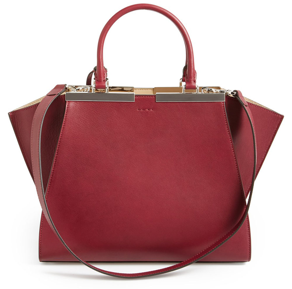Fendi Petit 3Jours Leather Shopper