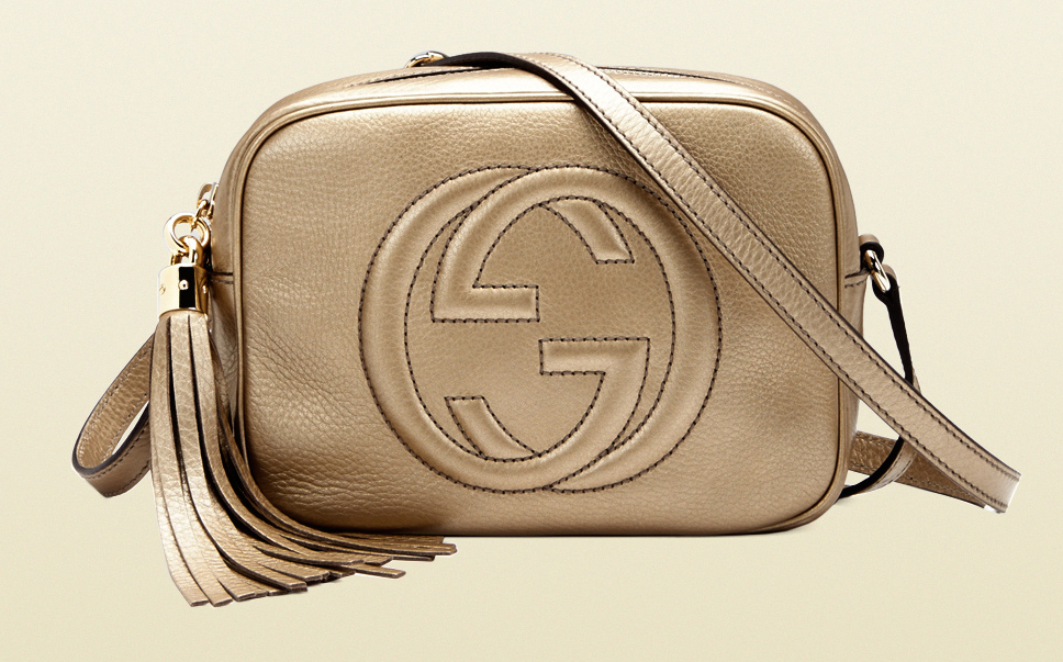 Gucci Soho Metallic Leather Disco Bag