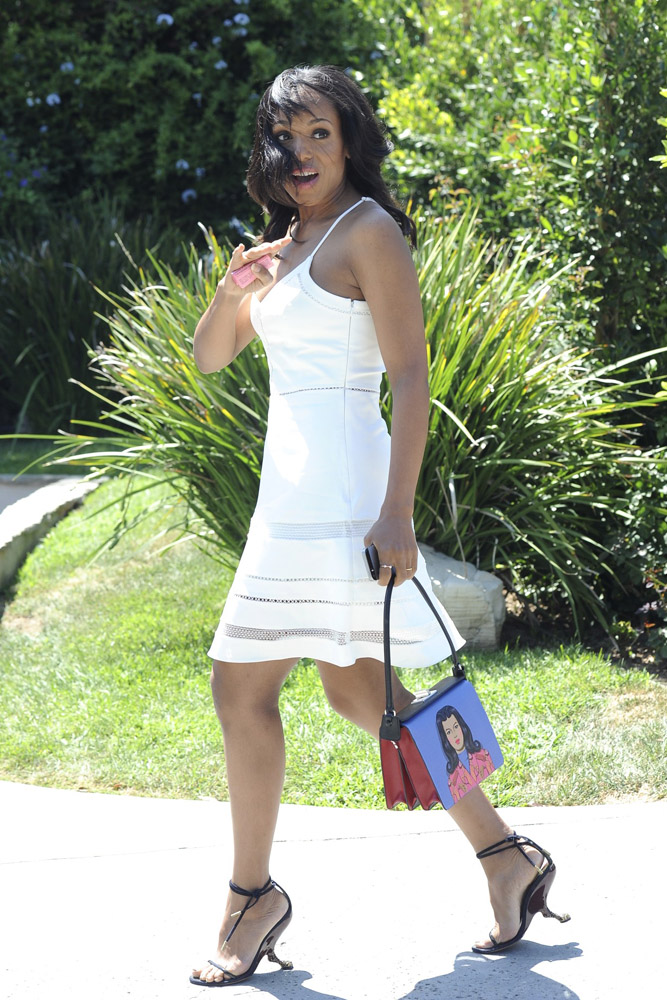 Kerry Washington Prada Face Mural Shoulder Bag 2
