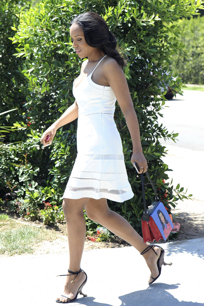 Kerry Washington Prada Face Mural Shoulder Bag 3
