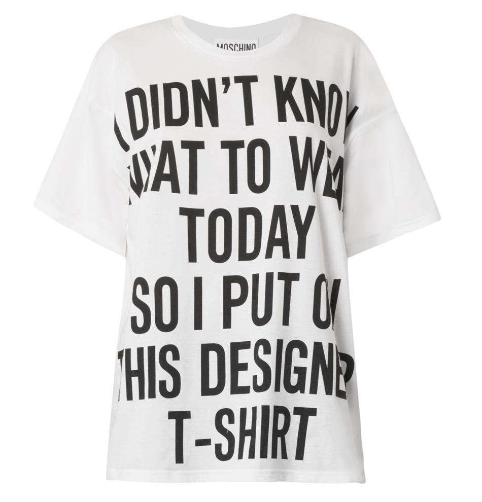 Moschino Slogan-print T-shirt