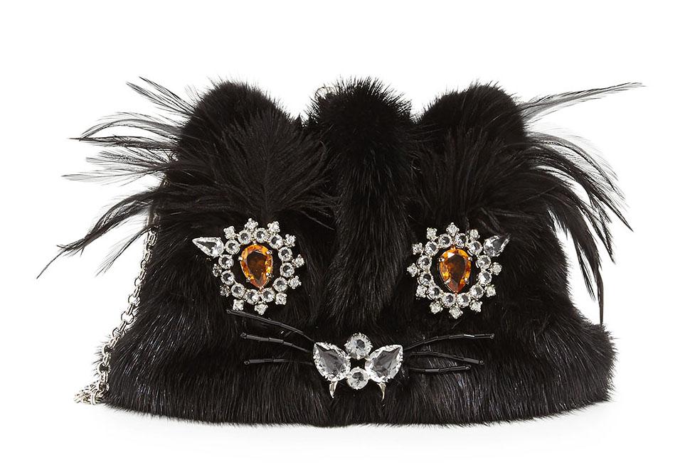 Prada Mink Fur Cat Pochette