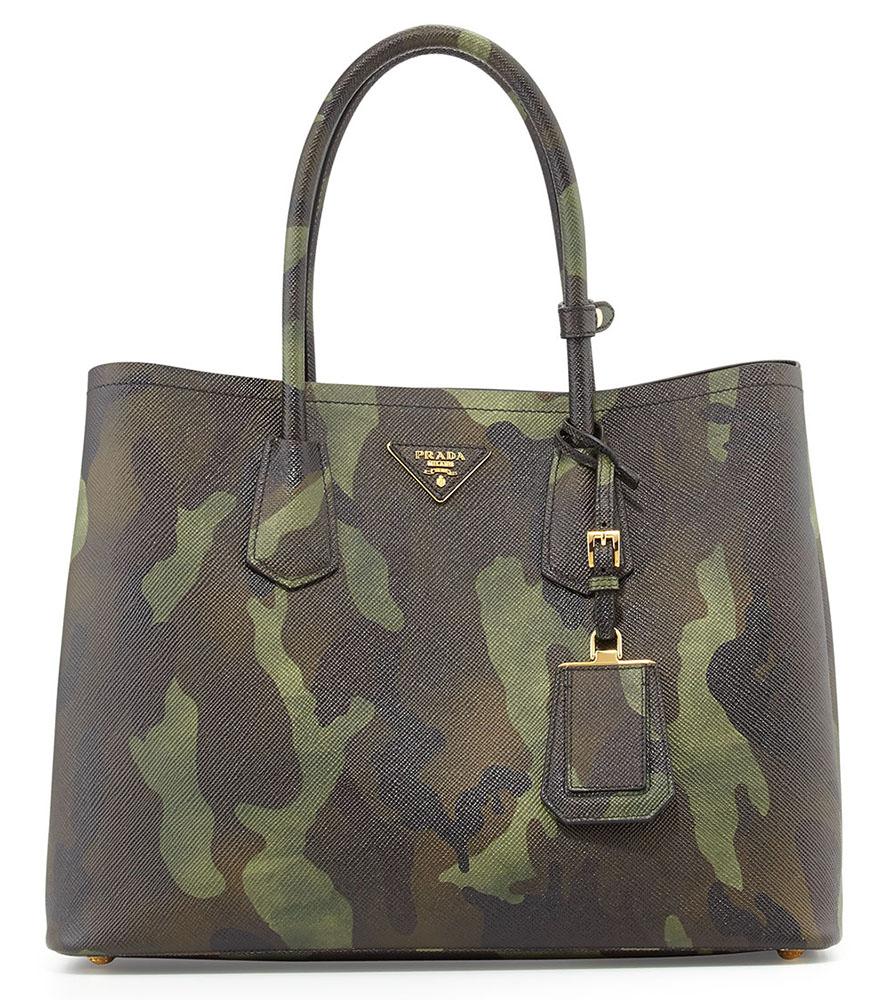 Prada Saffiano Cuir Camouflage Double Bag
