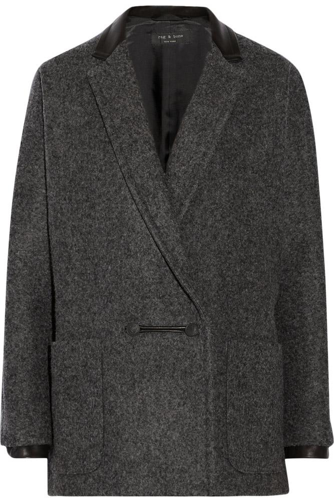 Rag and Bone Primrose Wool Blend Coat