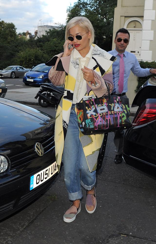 Rita Ora Hermes Graffiti Birkin 4