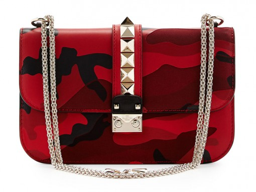 Valentino Camo Rockstud Rouge Absolute Lock Bag