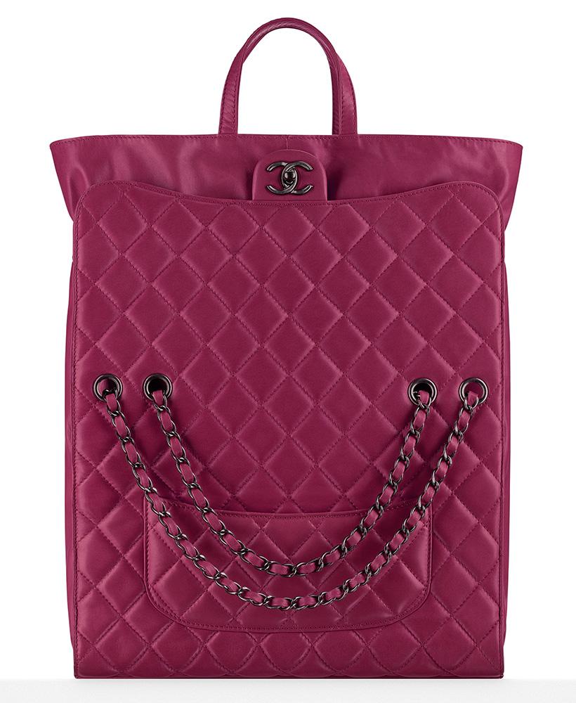Chanel Drawstring Shopping Bag Pink 6900