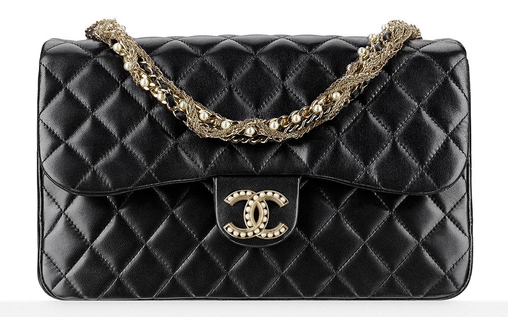 Chanel Pearl-Embellished Flap Bag 4500