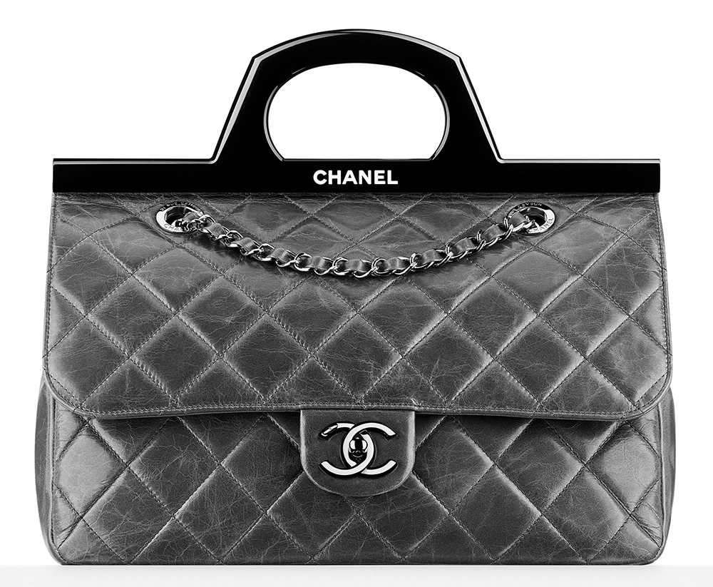 Chanel Rigid Handle Flap Bag 4100