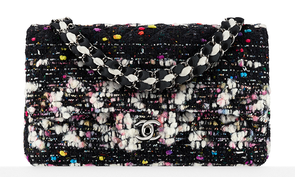 Chanel Tweed Flap Bag Multi 3900