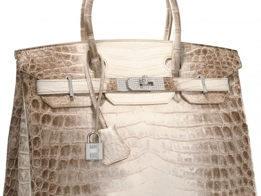 Hermes 30cm Matte Himalayan Nilo Crocodile Birkin with Diamond Hardware