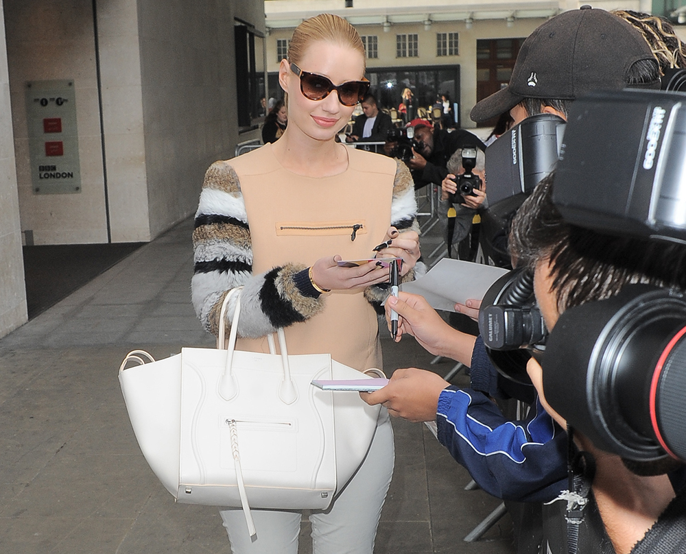 celine phantom handbag celebrities
